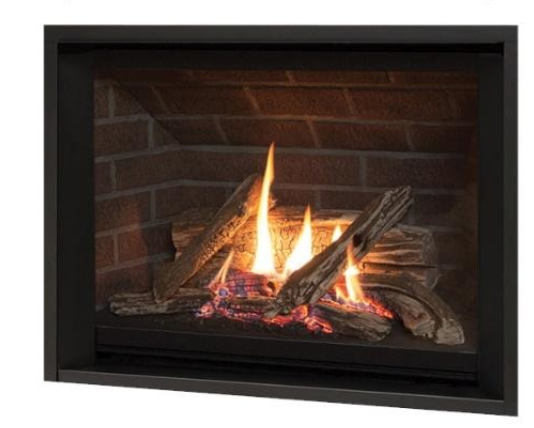 Recalled Valor H5 gas fireplace, model 1150ILP and 1150JLP