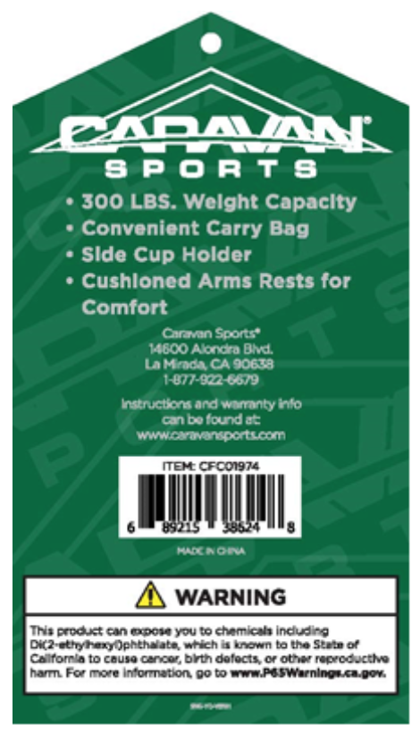 Tag on recalled chairs