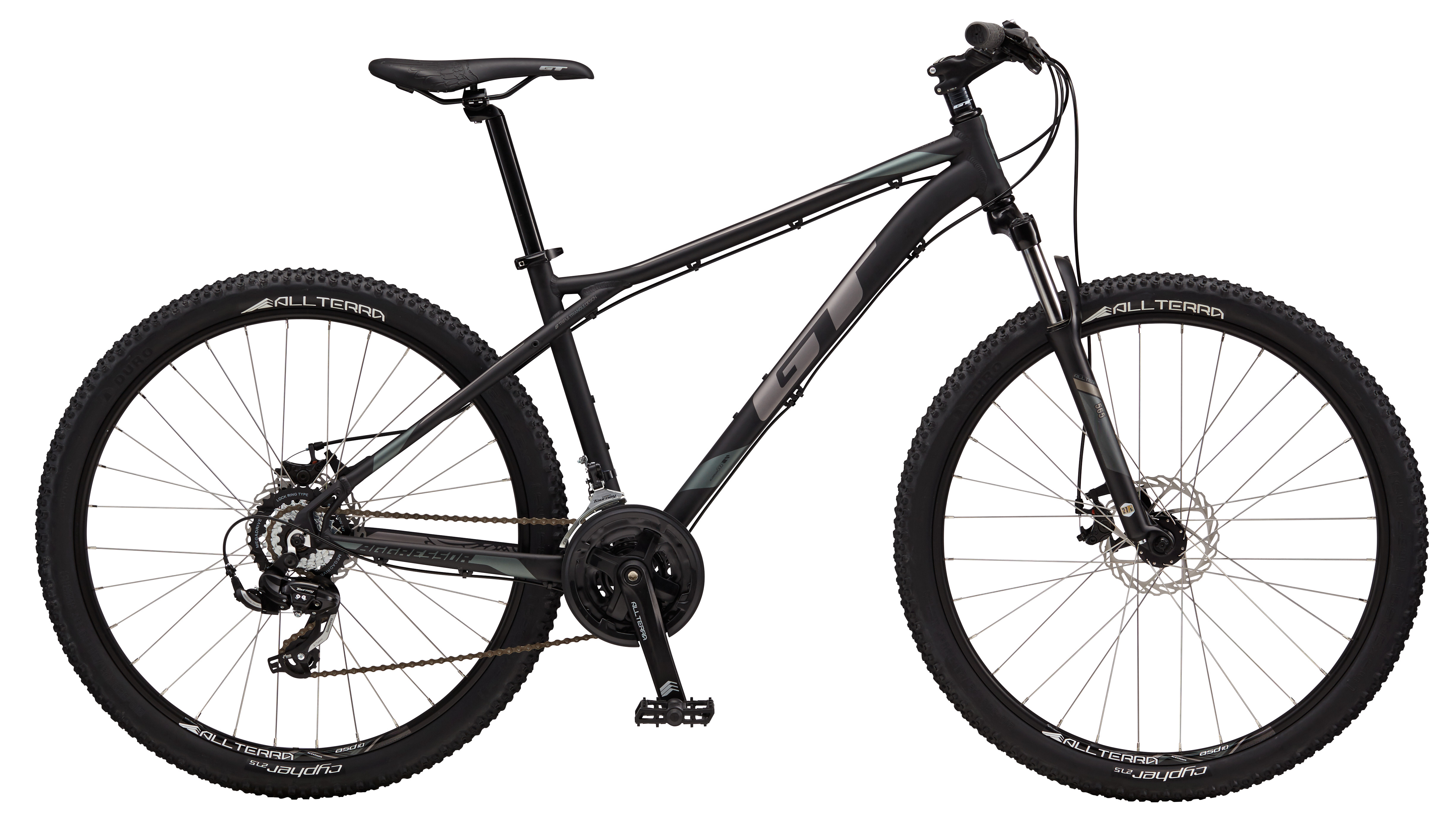 "2017 Aggressor Sport, 27.5"" wheel, black GT Mountain bicycle"