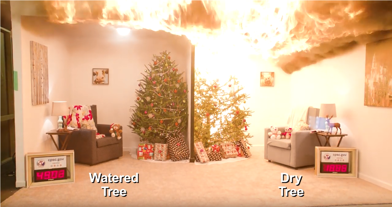 CPSC and NIST Team Up to Demonstrate Holiday Decorating Hazards