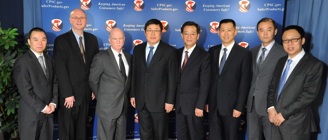 Director General Sun Wenkang and his staff visited CPSC Headquarters