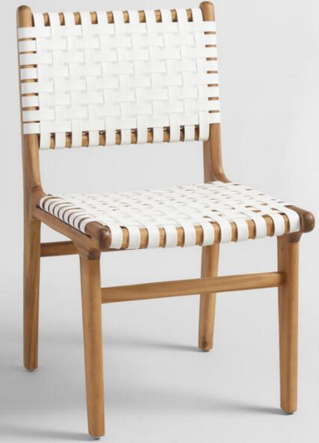 SKU Number: 536034 Girona white strap dining chair