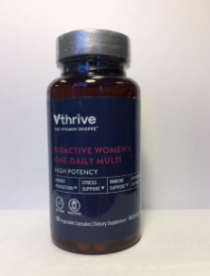 The Vitamin Shoppe Recalls Vthrive Bioactive Multivitamins Due to Failure to Meet Child Resistant Packaging Requirement; Risk of Poisoning (Recall Alert)