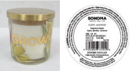 Kohl's Recalls Three-Wick SONOMA Goods For Life Branded Candles Due to Fire and Burn Hazards