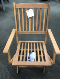 TJX Recalls Outdoor Wooden Folding Chairs Due to Fall and Injury Hazards; Sold at T.J. Maxx, Marshalls, HomeGoods and Sierra