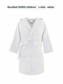 Children's Robes Sold Exclusively on Amazon.com Recalled Due to Violation of Federal Flammability Standard and Burn Hazard; Manufactured by SIORO
