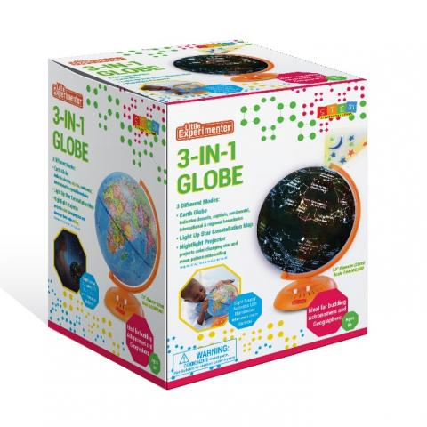 Recalled Little Experimenter 3-in-1 World children's globe – packaging