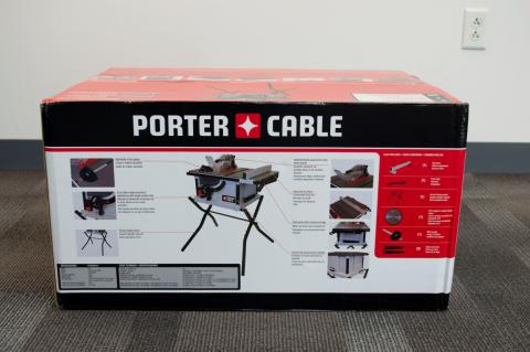Packaging for recalled PCX362010 table saw
