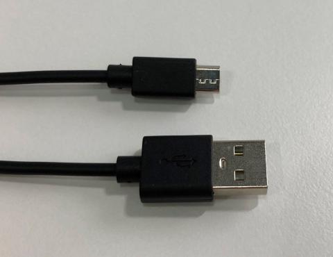 Micro USB charging cable sold with the recalled Happy Plugs headphone