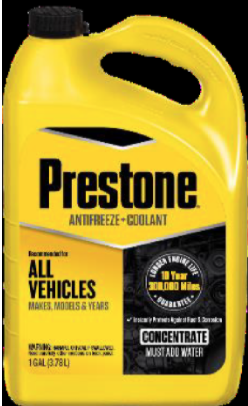 Recalled PRESTONE Concentrate Antifreeze