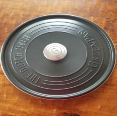 Lid of Recalled Double Greenpan SimmerLite Dutch Oven