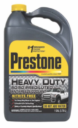 Recalled PRESTONE Heavy Duty Antifreeze 50/50