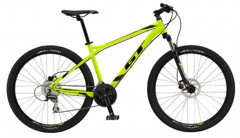 "Aggressor Expert, 27.5"" wheel, neon yellow GT Mountain bicycle"