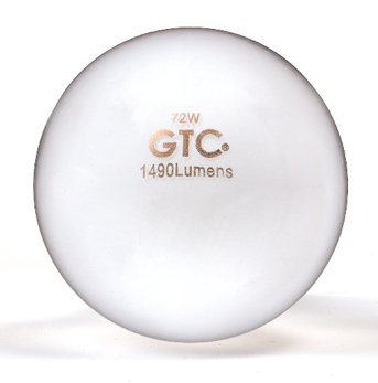 Halogen bulb with soft white markings